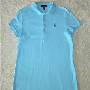 Ralph Lauren Polo Shirt Dress Blue Size Large